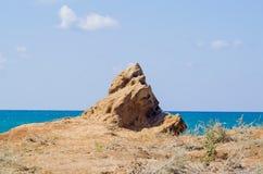 Sten med en mänsklig framsida Arkivbild