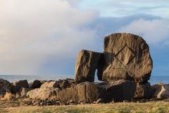 Sten med runor Arkivfoton
