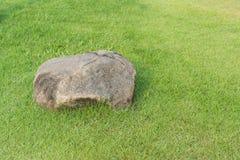 Sten och gräs Fotografering för Bildbyråer