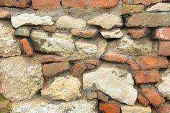 Sten- och tegelstenväggbakgrund Royaltyfria Bilder