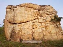 Sten på MOR HIN KHAOW CHAIYAPHUM i morgonen Det ` s Stoneheng Arkivbild