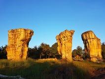 Sten på MOR HIN KHAOW CHAIYAPHUM i morgonen Det ` s Stoneheng Arkivbilder