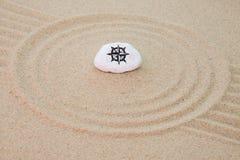 Sten på sand Royaltyfria Bilder