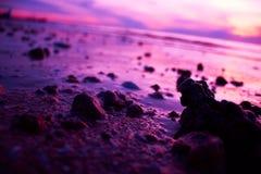 Sten på strand Royaltyfria Bilder
