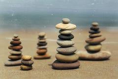 Sten på stranden Fotografering för Bildbyråer