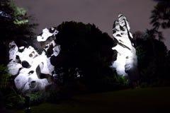 Sten på trädgården vid fjärden Royaltyfria Bilder