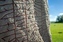 sten skrivna vikings Arkivbilder