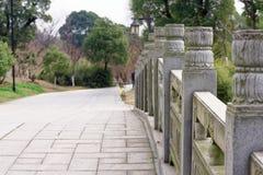 Sten som snider modell-Qingyunspektret Royaltyfri Bild