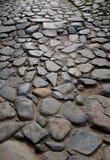 Sten stenlagd väg Arkivbilder