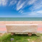 Stena bänken på kust av Persiska viken, Saudiarabien Arkivfoto