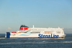 Stena Britannica Ferry Enters Port of Rotterdam Royalty Free Stock Photography