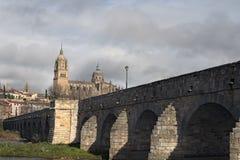Stena bron som byggdes av romansna Arkivfoto