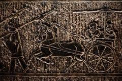 Stena för östliga Han för basrelief århundradet dynasti 1st-2 arkivfoton