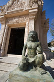 Stena förmyndare i thailändskt tempel. Fotografering för Bildbyråer