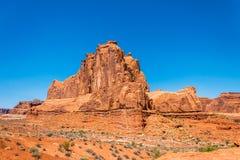 Stena klippor i bågarna nationalparken, Utah Ökensydväster USA arkivbilder
