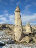 Stena kolonner i den Gorcelid dalen i Cappadocia, Turkiet Royaltyfri Foto