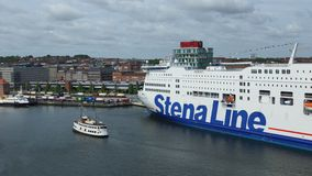 Stena Line located in port of kiel - Germany Stock Images