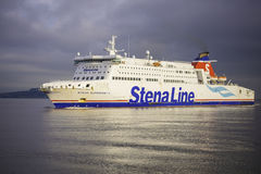 Stena Line Superfast ferry. Stena Line ferry is arriving at Dublin port from UK. Stena Line is one of the world's largest ferry operators and the largest Royalty Free Stock Photo