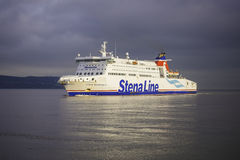 Stena Line Superfast ferry. Stena Line ferry is arriving at Dublin port from UK. Stena Line is one of the world's largest ferry operators and the largest Royalty Free Stock Images