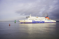 Stena Line Superfast ferry. Stena Line ferry is arriving at Dublin port from UK. Stena Line is one of the world's largest ferry operators and the largest Royalty Free Stock Photos