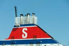 Stena-Linie unterzeichnen herein Gdynia auf 13 Juny 2015, Polen Lizenzfreies Stockfoto