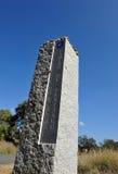 Stena monoliten i via de la Plata nära Castilblanco, det Seville landskapet, Andalusia, Spanien Royaltyfria Bilder