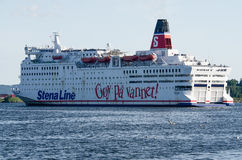 Stena Saga leaving Oslo Royalty Free Stock Photos