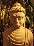 stena skulptur av lord buddha stängde sig upp royaltyfri fotografi