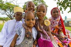 Stena stadcityscape, barn på gatan av stenstaden, Zanz fotografering för bildbyråer