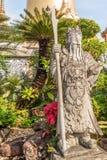 Stena statyn i den kungliga slotten av Bangkok, Thailand Fotografering för Bildbyråer