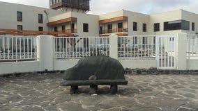 Stena stol, Playa Blanca i Fuerteventura, Canarias royaltyfri bild