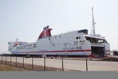 Stena-Transporter im Hafen von hoek Packwagen Holland Lizenzfreies Stockfoto