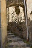 Stena trappan i Positano, den Amalfi kusten, Italien Fotografering för Bildbyråer