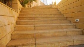 Stena trappuppgången i territoriet av hotellet i Egypten lager videofilmer