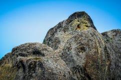 Stenar överst av berget Royaltyfria Bilder