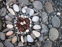 Stenar bakgrund Fotografering för Bildbyråer
