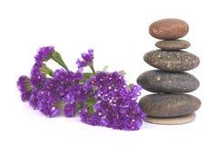 Stenar balanserar - kiselstenbunten - lagerför bild Fotografering för Bildbyråer