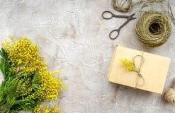 Stenar den internationella kvinnadagen för begreppet med blommor bästa sikt för bakgrund Fotografering för Bildbyråer
