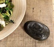 Stenar för massage Arkivbild