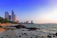 Stenar, hav och sand. Arkivbild