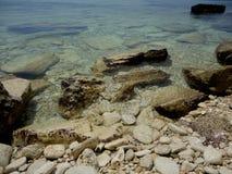 Stenar havsKrim bakgrund Royaltyfri Foto