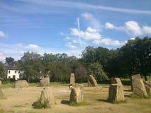 Stenar i ett fält Arkivfoton