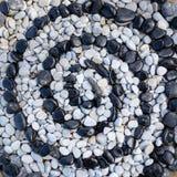 Stenar i form av spiralen Arkivfoton