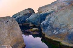Stenar i havet Royaltyfria Foton