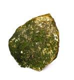 Stenar med moss fäste isolerat på vitbakgrund Royaltyfri Bild