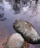 Stenar och reflexioner Royaltyfri Foto