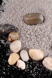 Stenar och sand Arkivbilder
