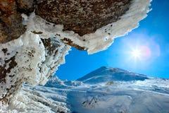 Stenar och vinter Royaltyfri Foto