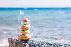 Stenar på en strand Royaltyfri Fotografi