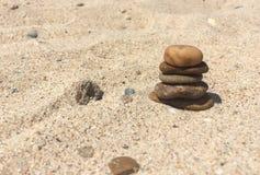 Stenar på en strand Royaltyfri Bild